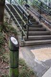 Endireite este sinal do parque da maneira Foto de Stock Royalty Free