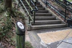 Endireite este sinal do parque da maneira Imagem de Stock Royalty Free