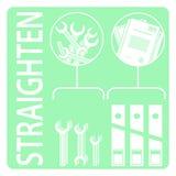 endireite metodologia 5S Foto de Stock