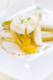 Endives and poached egg Royalty Free Stock Images