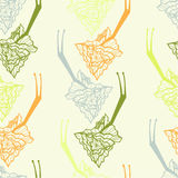 Endless abstract decor pattern with snail Stock Images