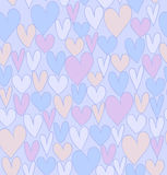Endless abstract love pattern. Beautiful doodle backdrop with cute hearts Royalty Free Stock Images