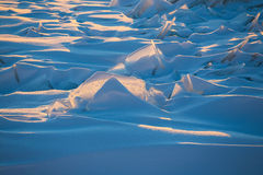 Endless Antarctic snowfields. Antarctica ice desert landscape. Snowy hills on a frozen plain Royalty Free Stock Photography