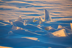 Endless Antarctic snowfields. Antarctica ice desert landscape. Snowy hills on a frozen plain Royalty Free Stock Image