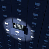 Endless array of file cabinets Stock Images