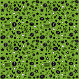 Endless atypical pattern on a green background. Vectors endless atypical pattern on a green background Stock Image