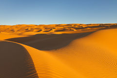 Endless Awbari Sand Sea - Sahara Desert, Libya royalty free stock photos