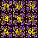 Endless background of abstract flowers Stock Images