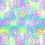 Endless background of colorful abstract flowers Royalty Free Stock Photos