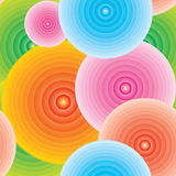 Endless background. Endless colorful circle background - with gradient Stock Photography