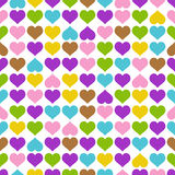 Endless background hearts - colorful Stock Photos
