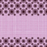 Endless background line border frame with flowers Royalty Free Stock Image