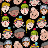Endless background with portraits of people. royalty free illustration