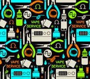 Endless background of vape service Royalty Free Stock Images