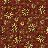 Endless background of yellow flowers Royalty Free Stock Photo