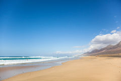 Endless beach Stock Photo