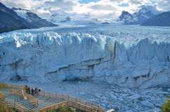 Endless blue glacier Royalty Free Stock Images