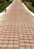 Endless brick path Royalty Free Stock Photos