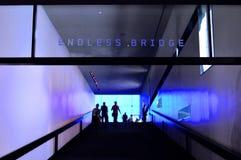 Endless Bridge. View up the ramp of the Endless Bridge in the Guthrie Theater, Minneapolis, Minnesota Stock Photos