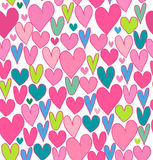 Endless bright love pattern Stock Photos