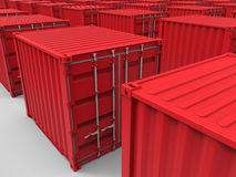 Endless cargo containers background Stock Photos