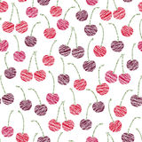 Endless cherry texture, endless berry background. Abstract fruit Stock Photo