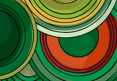 Endless Circles II. Stacked spiral circle-shaped color background design in landscaping hues Royalty Free Stock Photos