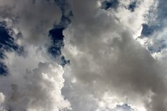 Endless clouds. Just sky gazing stock image