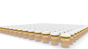 Endless coffee cups Stock Photo