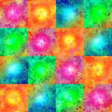 Endless colorful color spots. Stock Photo