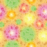 Endless colorful spots pattern Stock Photo