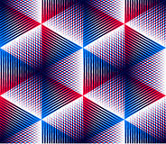 Endless colorful symmetric pattern, graphic design. Geometric in Stock Photo