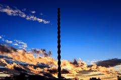 Endless Column of Constantin Brâncuși at sunset