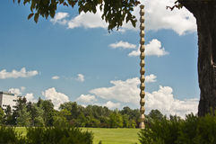 Endless Column Framed by Vegetation Royalty Free Stock Photo