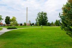 Endless Column made by Romanian artist Constantin Brancusi.  Stock Images