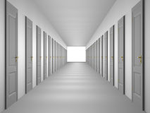 Endless corridor Stock Photo