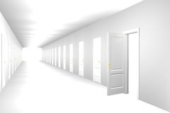 Endless corridor Royalty Free Stock Photos