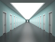 Endless corridors of the building Stock Image