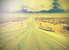 Endless country highway. Royalty Free Stock Images