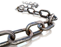 Endless. 3D rendering of a chain Royalty Free Stock Images
