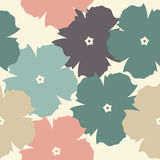 Endless decorative floral pattern Stock Image