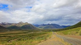 Endless Dempster Highway near the arctic circle, Canada Royalty Free Stock Photos