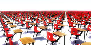 Endless desks Stock Photography