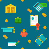 Endless education loan and banking background. Stock Photos