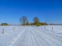 Endless expanses in snow-covered Latgale, in winter 2018 royalty free stock images