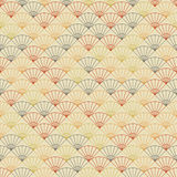 Endless fan pattern. Based on Traditional Japanese Embroidery. Royalty Free Stock Photos