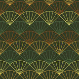 Endless fan pattern. Based on Traditional Japanese Embroidery. A Royalty Free Stock Photos