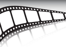 Endless film strip vector illustration. With reflection Stock Image