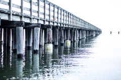 Endless fishing Pier Royalty Free Stock Photo