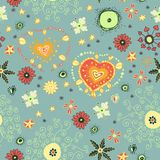 Endless floral cute seamless pattern Royalty Free Stock Images
